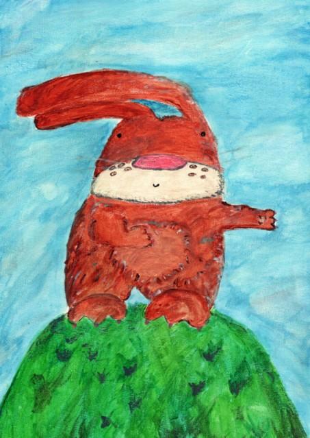 gouache rabbit800